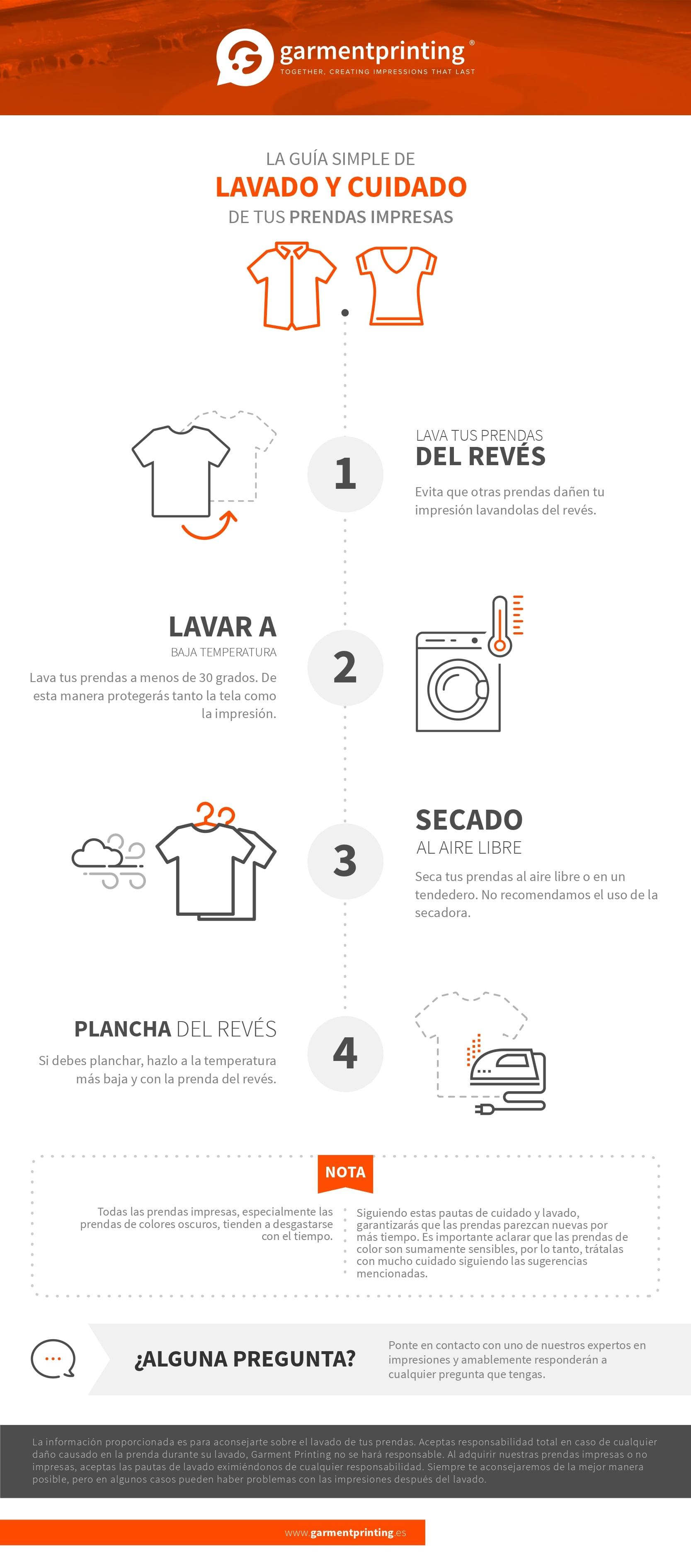Guía de cuidado de prendas para el lavado